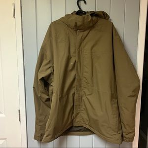 Chocolate brown Mountain equipment co-op jacket